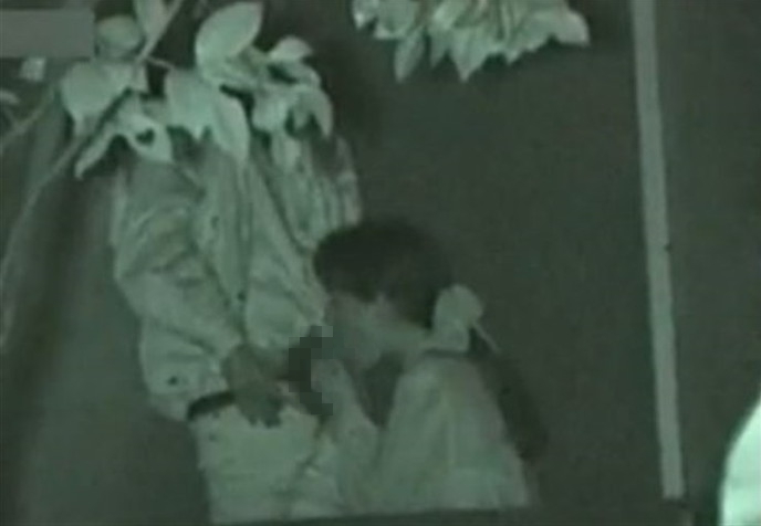 野外セックス 赤外線カメラ 画像011