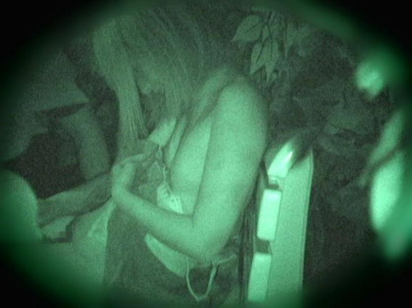 野外セックス 赤外線カメラ 画像002
