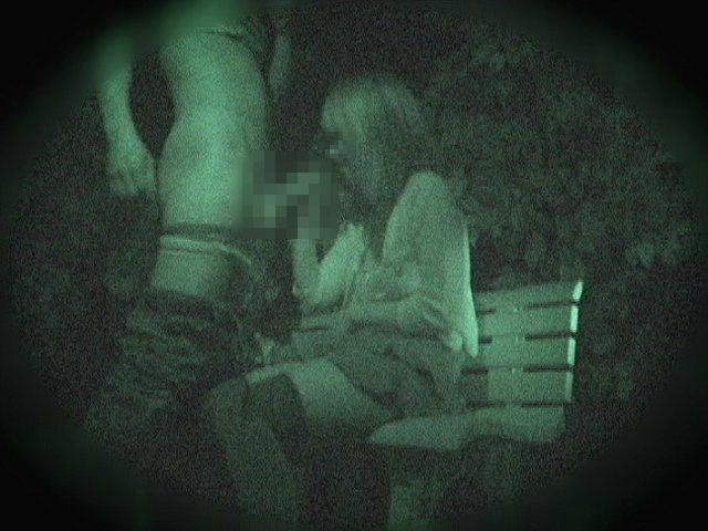 野外セックス 赤外線カメラ 画像022