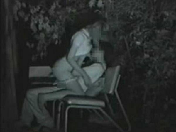 野外セックス 赤外線カメラ 画像023