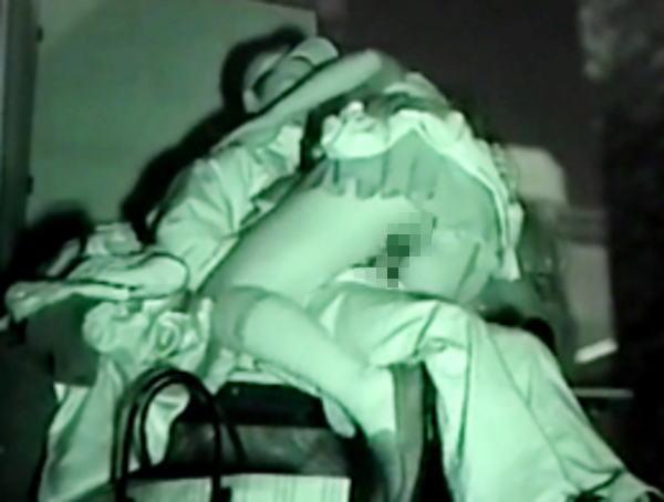 野外セックス 赤外線カメラ 画像024