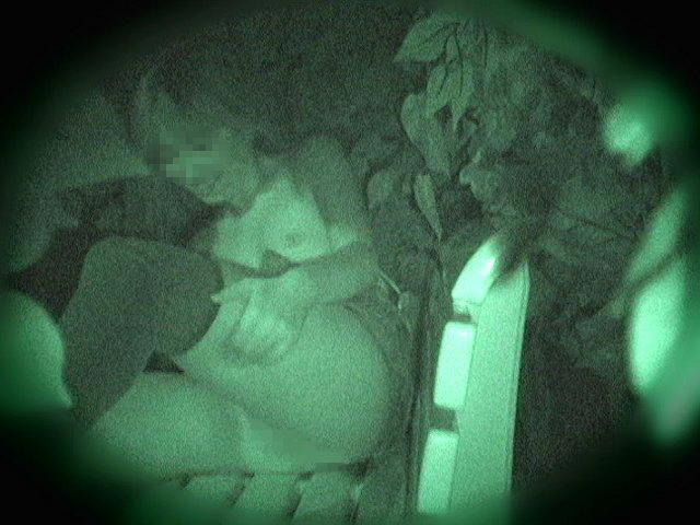 野外セックス 赤外線カメラ 画像025