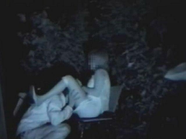 野外セックス 赤外線カメラ 画像026