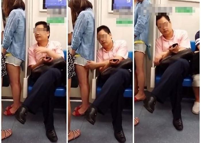 【逮捕覚悟】満員電車で性欲に負けて堂々と痴漢行為をしてる画像集・19枚目