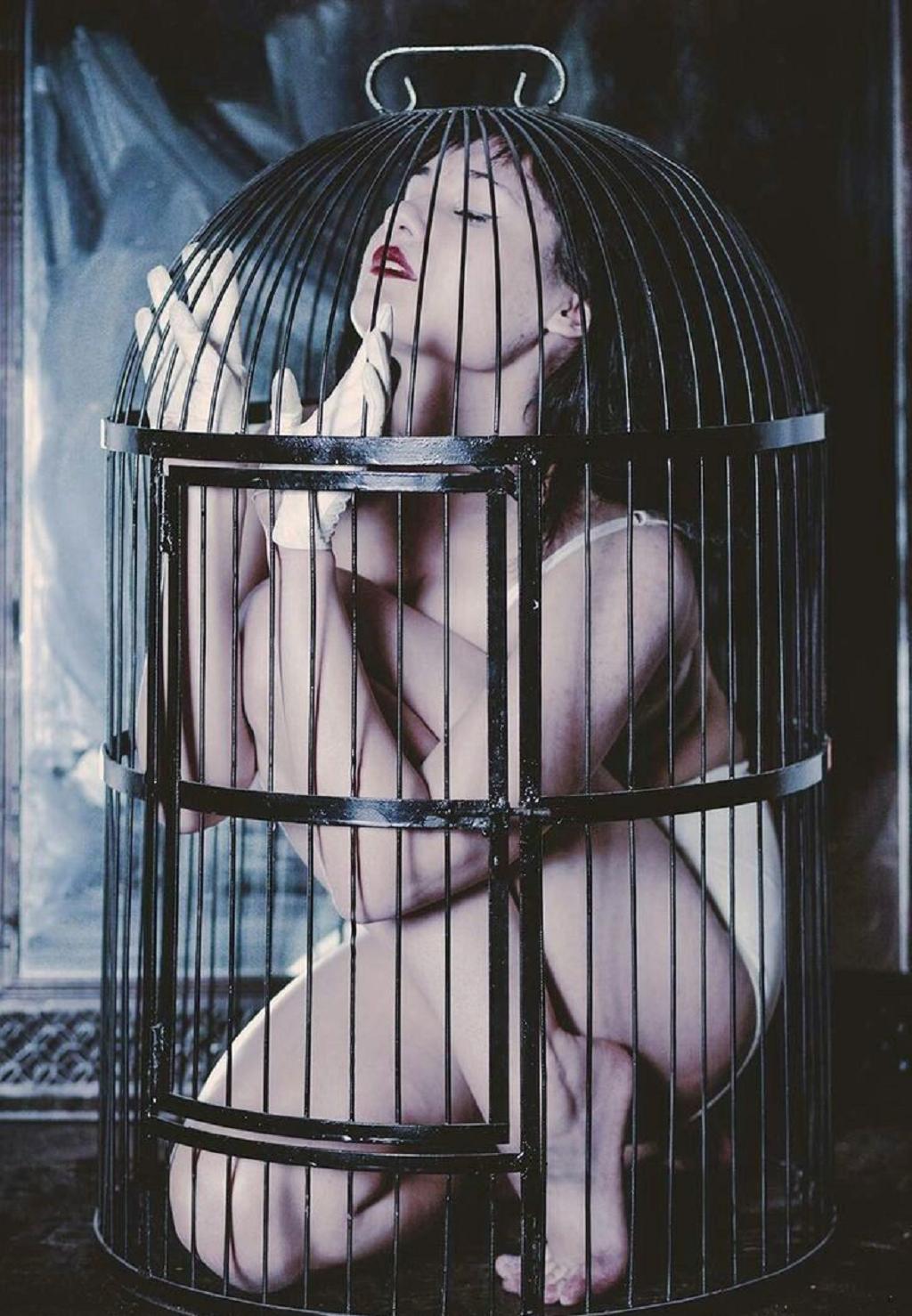 【悲報】鳥かごで飼育されてる女たちをご覧ください(32名)・30枚目