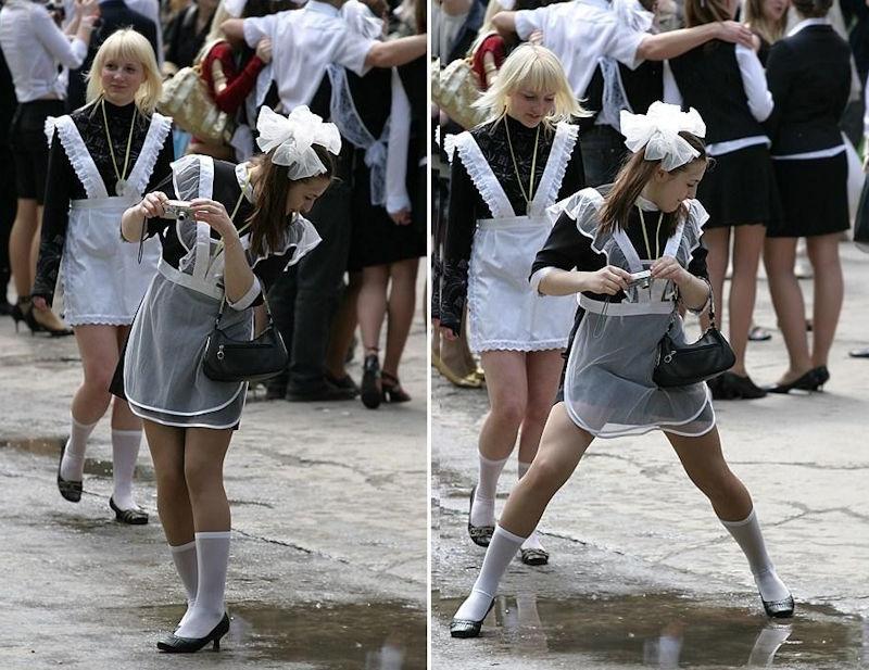 卒業式でメイド姿になるロシアの女学生がくっそエ口すぎるんだがwwwww(勃起確定)・3枚目