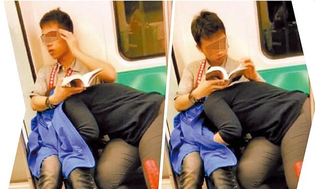 AVの影響電車内でおっぱじめるバカップルが無事撮影→拡散されるの巻。(画像あり)・12枚目