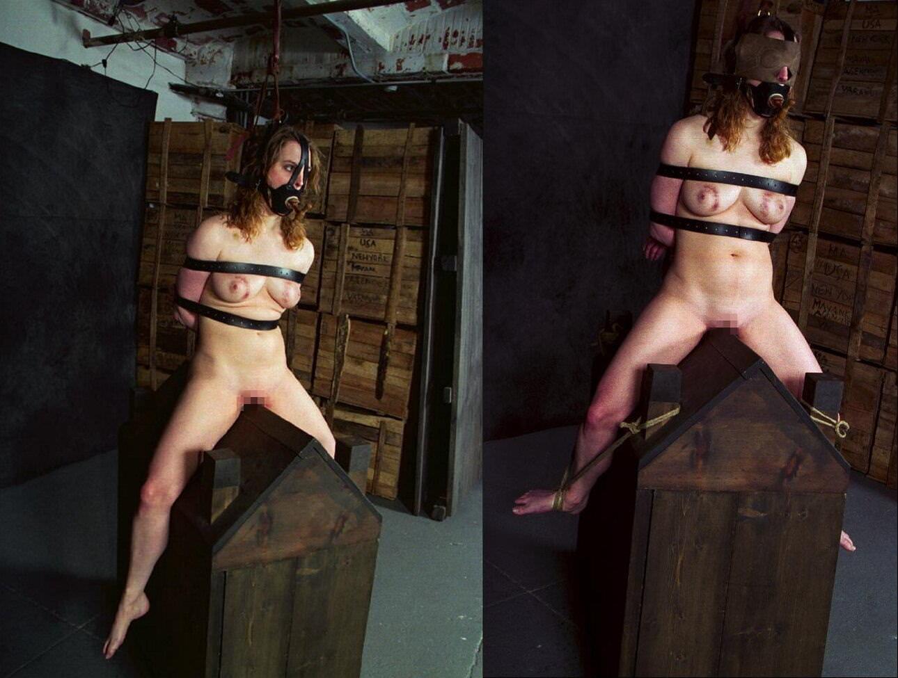 三角木馬とかいうマンコを破壊する超性具怖すぎwwwwwwwww(画像あり)・26枚目
